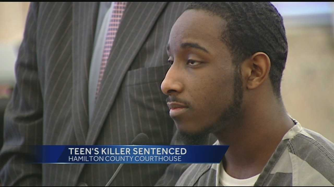 Justin Brown, 17, was shot to death after Dierres Lee, 19, opened fire on the car in which Brown was a passenger in March 2013. Lee pleaded guilty to involuntary manslaughter and a weapons violation on Tuesday. He was sentenced to 12 years in prison.