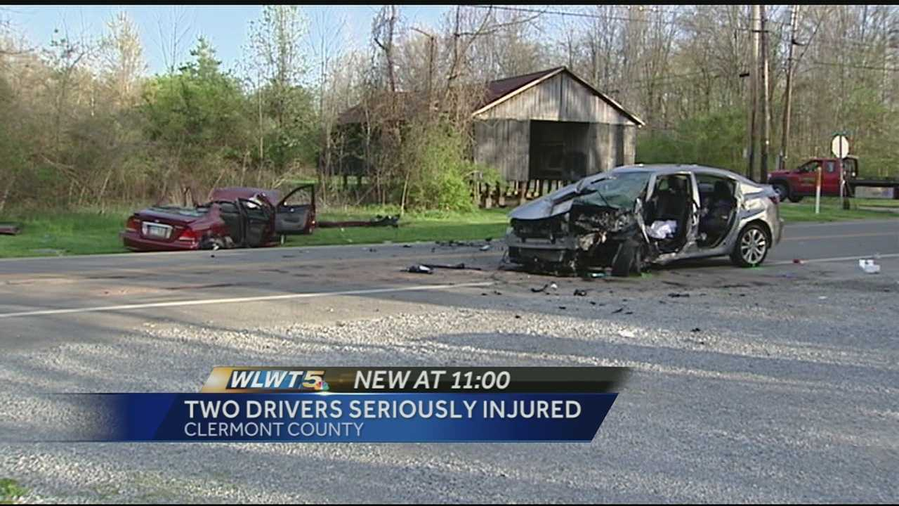 Police: 2 in serious condition after head-on crash in Clermont Co.
