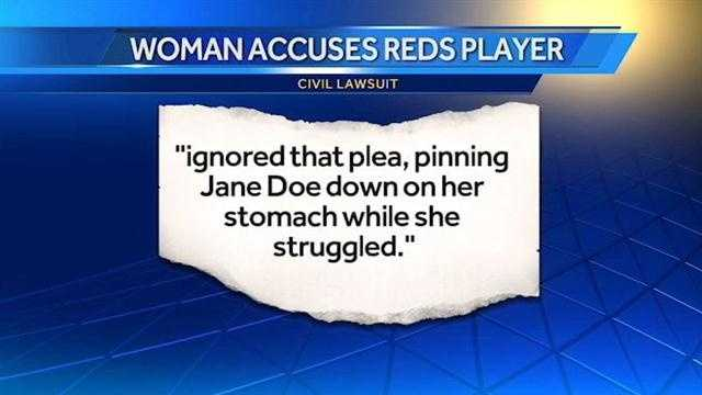 A woman has filed a civil lawsuit against Reds pitcher Alfredo Simon.