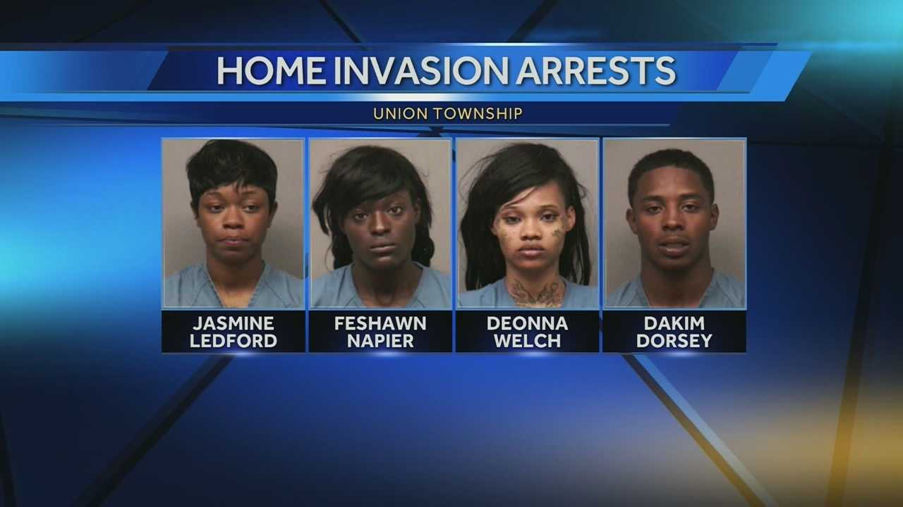 3 women, man charged in Union Township home invasion