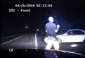 Brockman reports seeing cars full of teenagers driving down River Road. He stops a car driving toward him. The driver complies with his orders and was deemed to be sober.