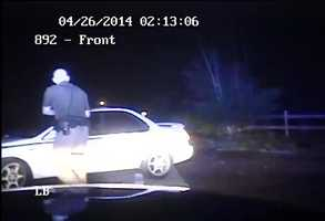 """Brockman says Ramsey began to slow but then sped up again. He says Ramsey """"punched the gas and made a left turn striking Deputy Brockman and causing him to jump, to avoid being run over and killed."""""""