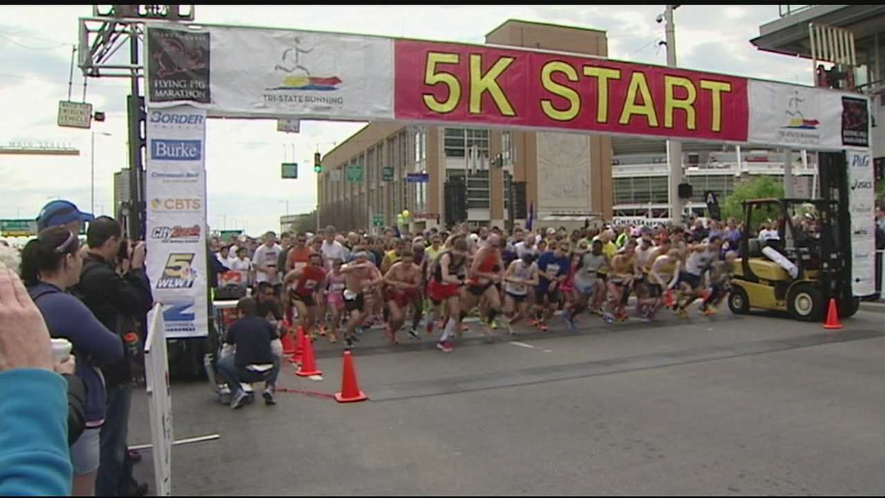 People from all over the country will gather in Cincinnati this weekend for all the marathon events. Saturday's races included the 5K and 10K. No matter the race being run or the person doing the running The Flying Pig Marathon has become simply a celebration of Cincinnati and personal accomplishments.