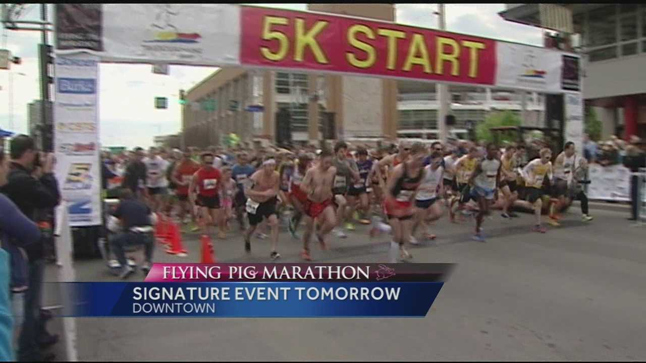 Months of training will be displayed Sunday in the Flying Pig Marathons