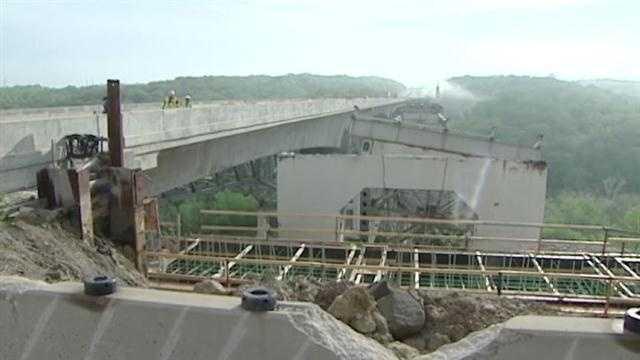 2 spans of tallest Ohio bridge demolished