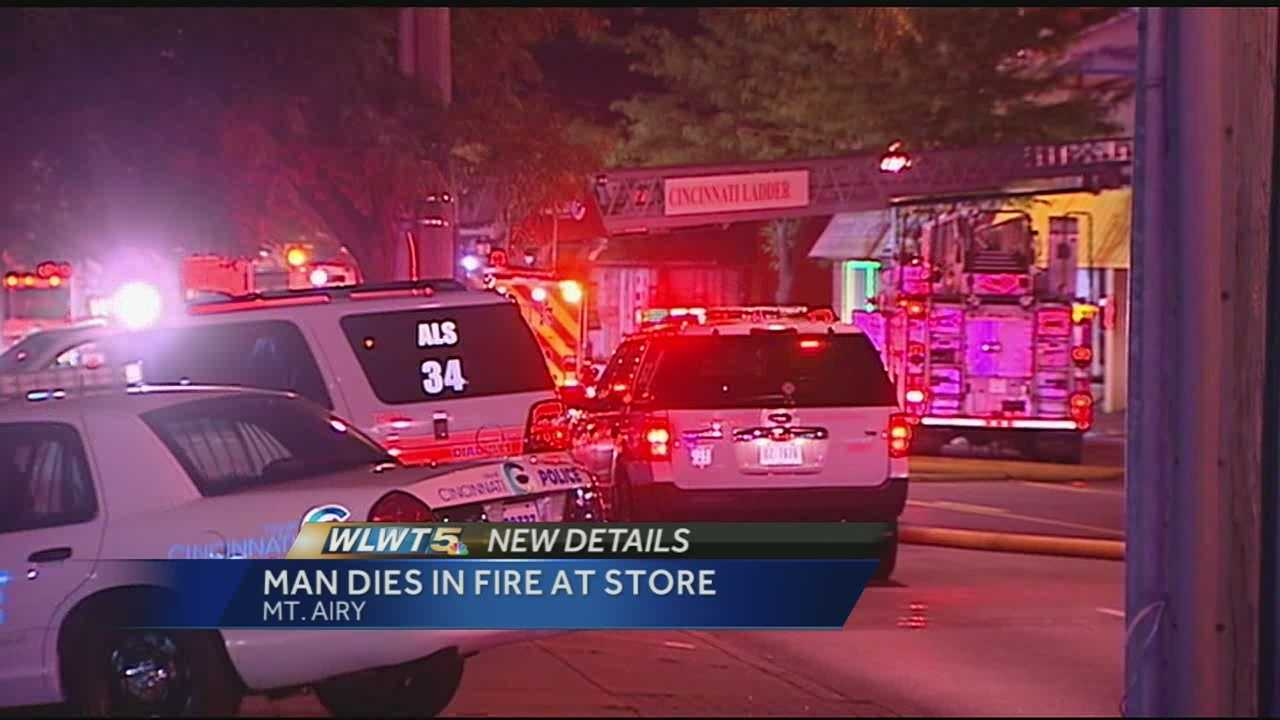 The Run-In Run-Out convenience store on Colerain Avenue caught fire early Wednesday morning and killed an elderly man.