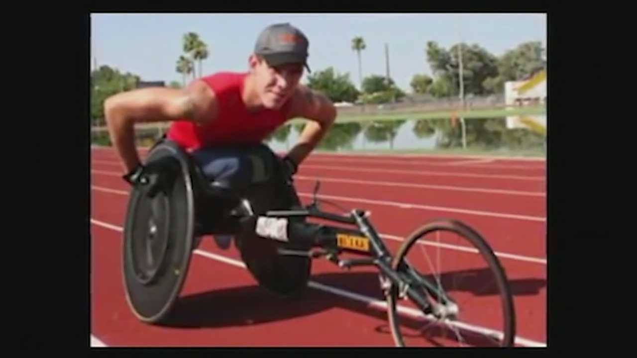 Paralympic gold medalist's race chair stolen in Anderson Township