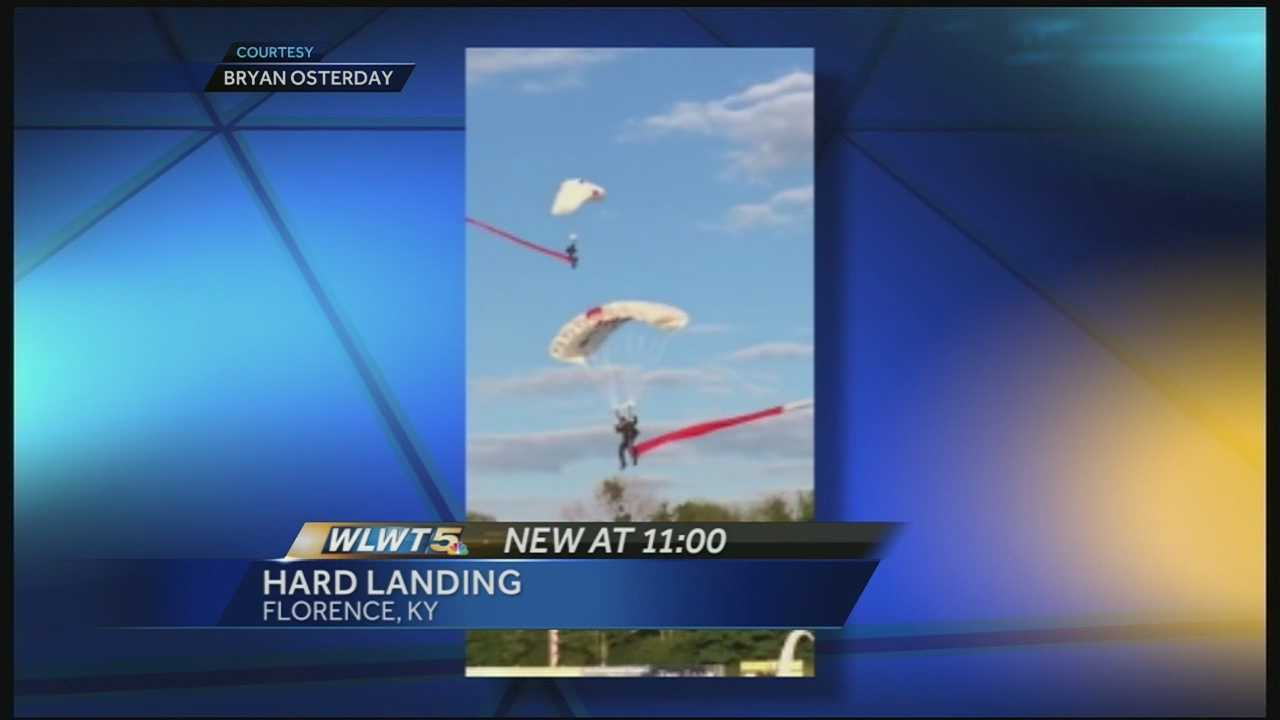 WLWT News 5 viewer captures skydiver's rough landing in Florence