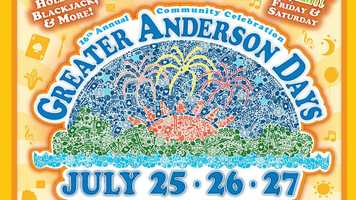 Greater Anderson Days July 25-27Head to Anderson Township for one of their most anticipated events of the year! Be a part of the nearly 30,000 people attending the festival filled with music, games and those famous Rozzi fireworks.TimesFri-Sat: 5-11 p.m.Sun: 5-10 p.m.For more info, click here