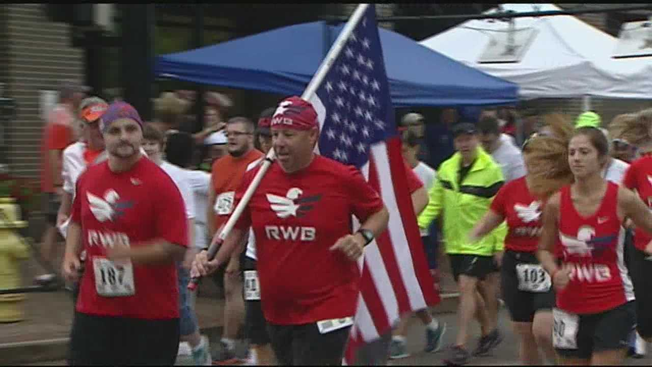 Rain didn't stop runners from taking part in Honoring our Heroes 5K