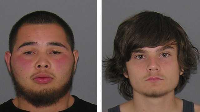 Brandon Zeigler, 21, and Alexander Gaines, 19, mugs