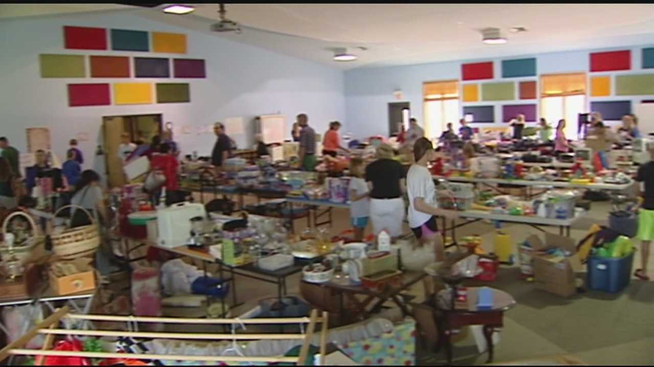 Community holds yard sale in honor of 6-year-old Holden
