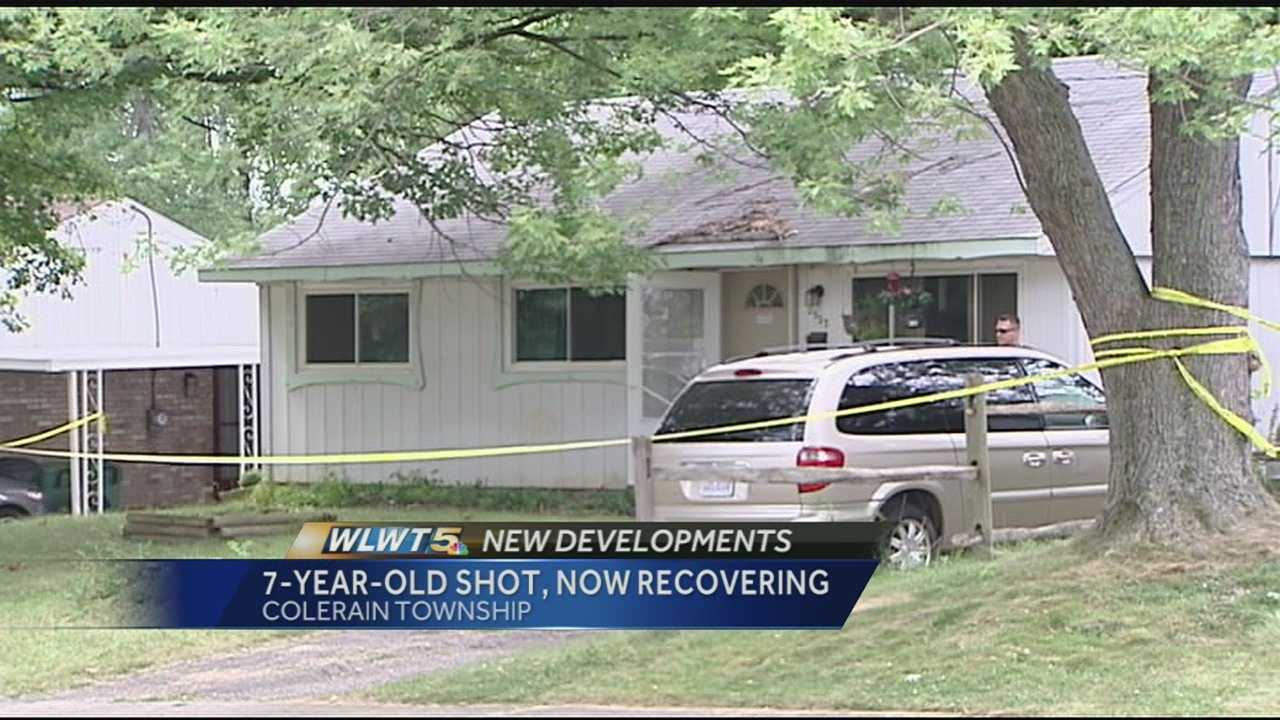 Police are investigating after a 7-year-old was shot in the back by his brother in Colerain Township.