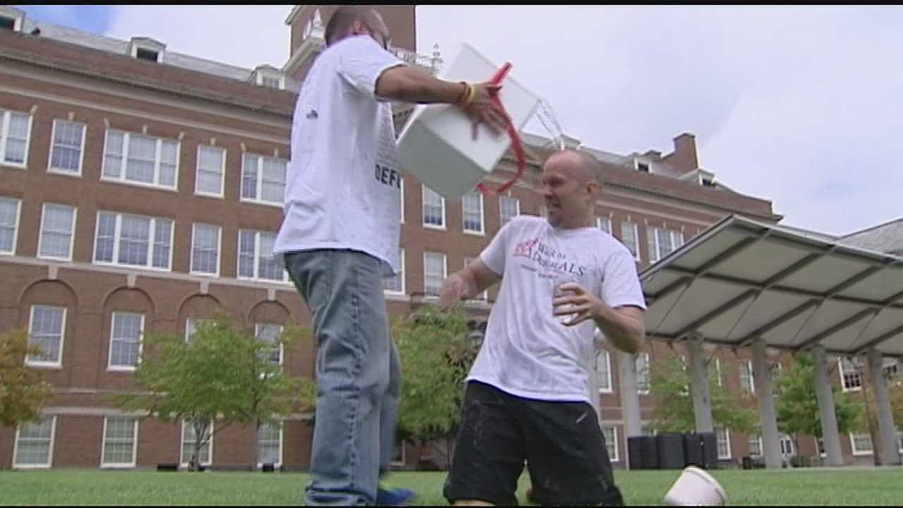 Coaches challenge each other to ALS 'cold water challenge'