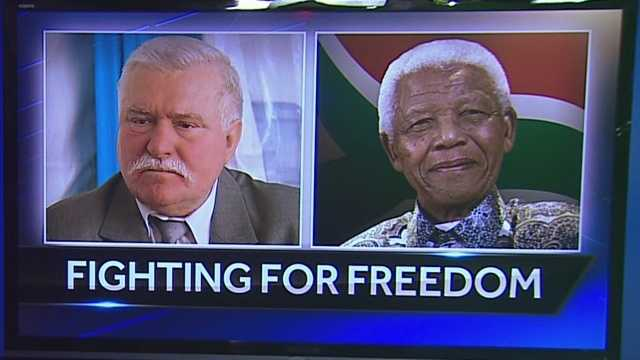 Freedom Center honors Mandela, Walesa