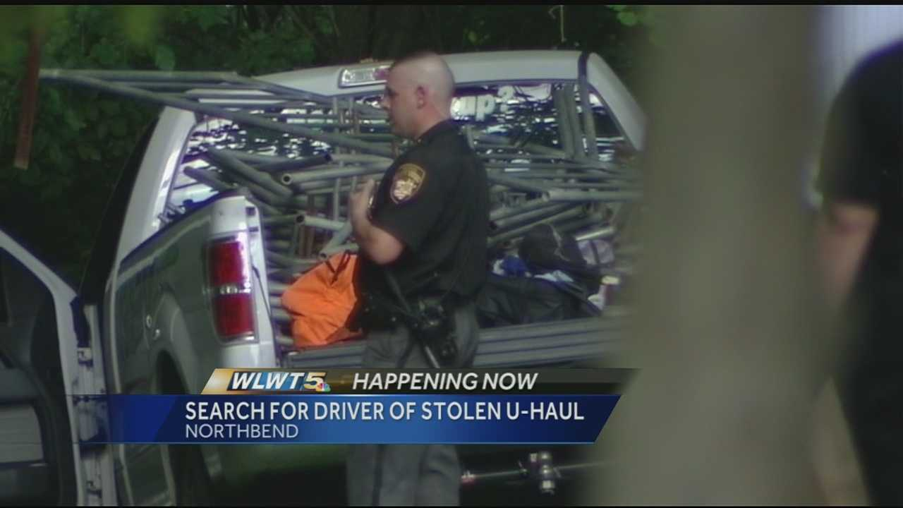 One person was arrested and police were searching for for a second person after the pair led police on a high-speed chase in a U-Haul truck, authorities said.