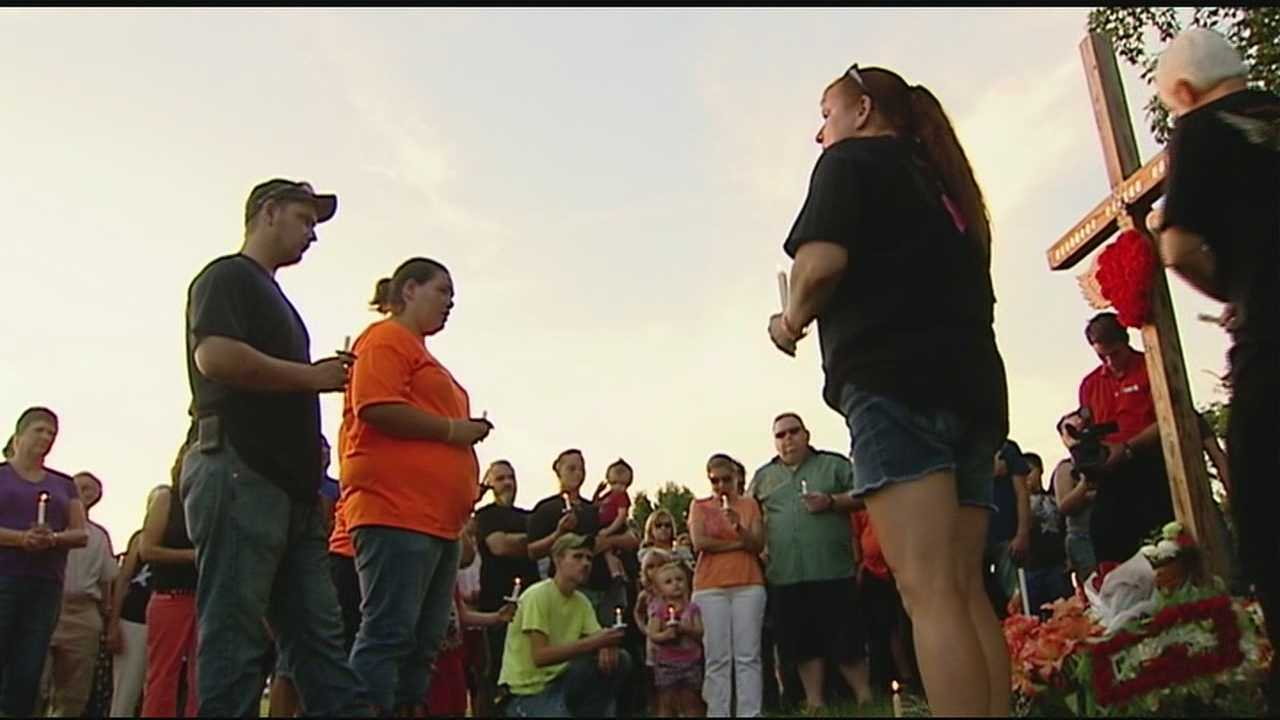 Stykes' parents held the vigil at the place where she died on State Route 68 between Gooselick and Laycock roads.