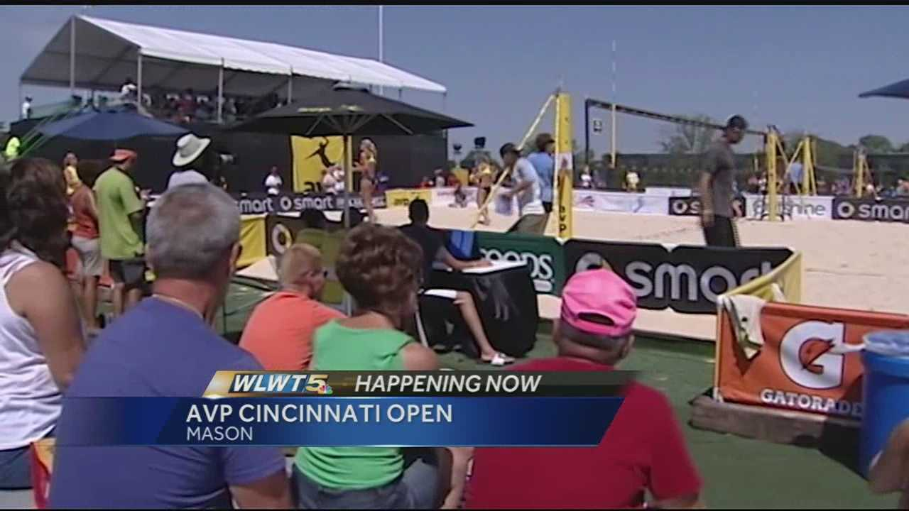 Top beach volleyball players fight for title in Mason