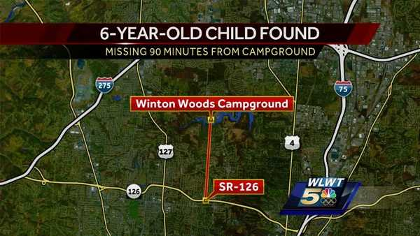Boy reported missing at winton woods found walking near for Winton woods cabins