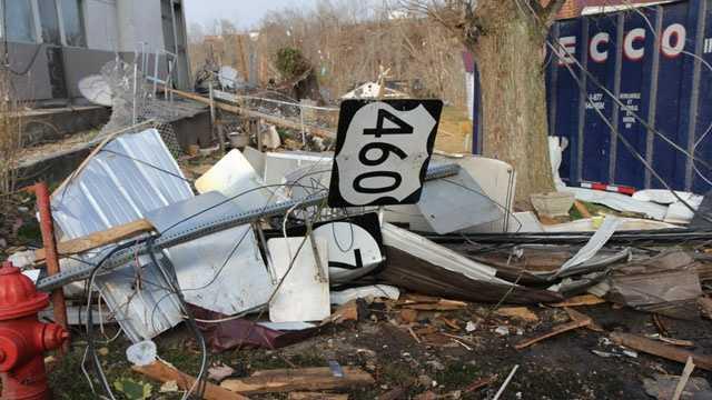West Liberty, Ky tornado damage