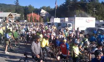 The 3 day Trek Across Maine began Friday morning at Sunday River in Newry