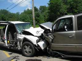 A crash on Monday in Lyman sent six people to the hospital