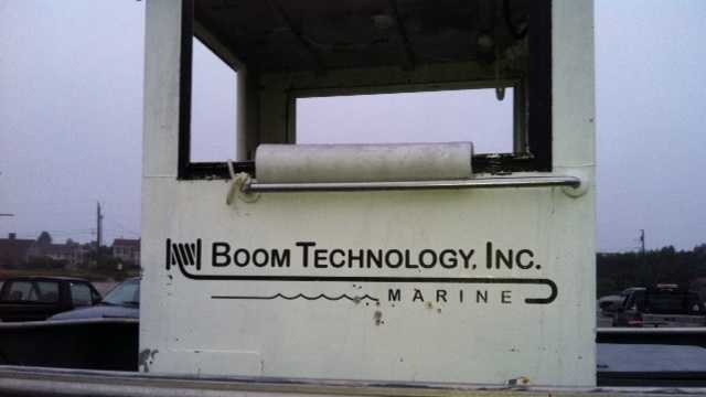 Boom Technologies involved in oil spill drill
