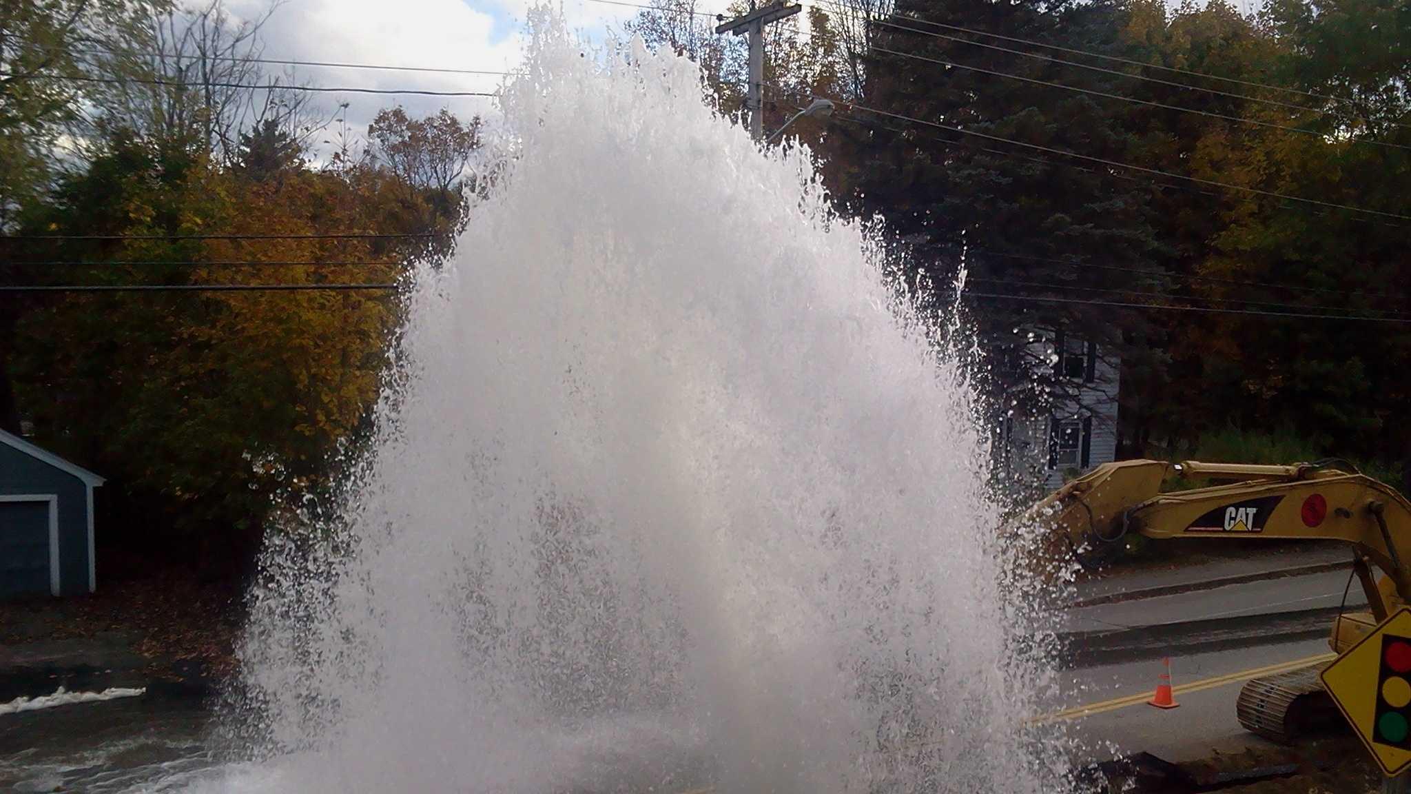 Auburn Water Main Break
