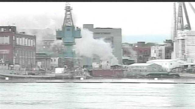 USS Miami fire