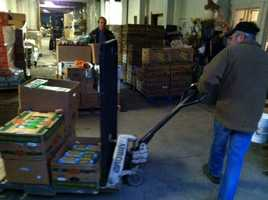 Volunteers were in Sanford Tuesday morning to help distribute food ahead of Thanksgiving.