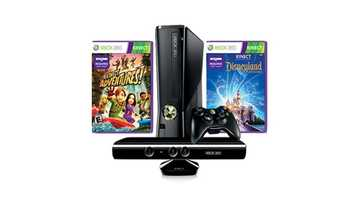 Gamers can pick up a XBOX 360 Kinect Bundle for $199.99.