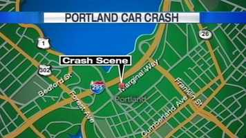 Portland police were investigating a head-on motor vehicle crash on Sunday on Marginal Way, according to a city spokesperson.