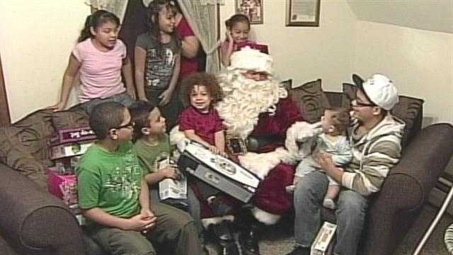 Santa and Auburn Firefighters deliver gifts