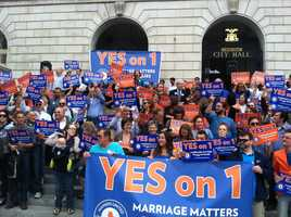 Maine becomes one of the first states in the country to allow same-sex marriage by popular vote when Mainers passed Question One on the ballot in November.