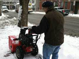 Cleaning up the snow in Portland