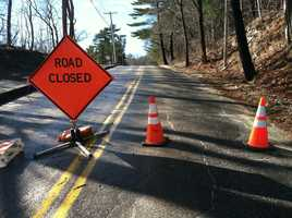 Summer Street in Topsham had to be closed because of storm damage