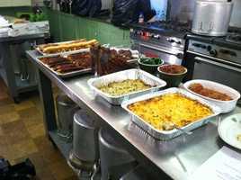 The Super Bowl spread also included jalapeno crab dip, buffalo chicken spread and pork tenderloin baguettes.
