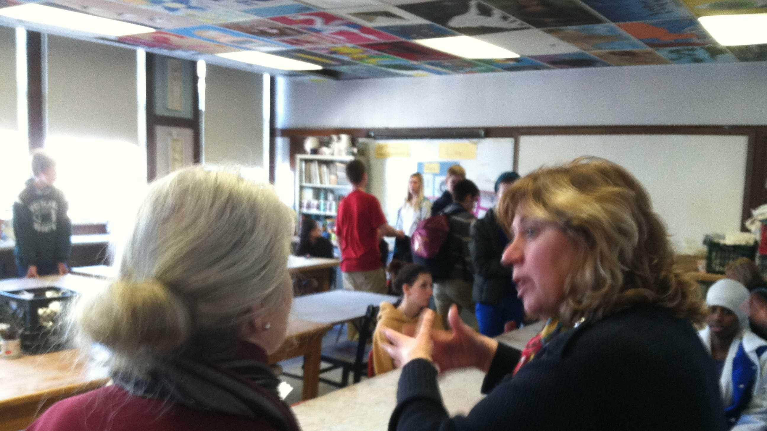 Portland High School Principal Deborah Migneault discusses possible school calendar changes.