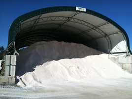 The Westbrook salt shed is stocked and ready to go.