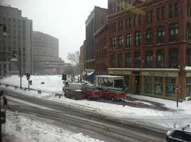 Monument Square at 11:15 a.m.