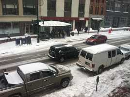Congress Street in Portland at 11:30 a.m.