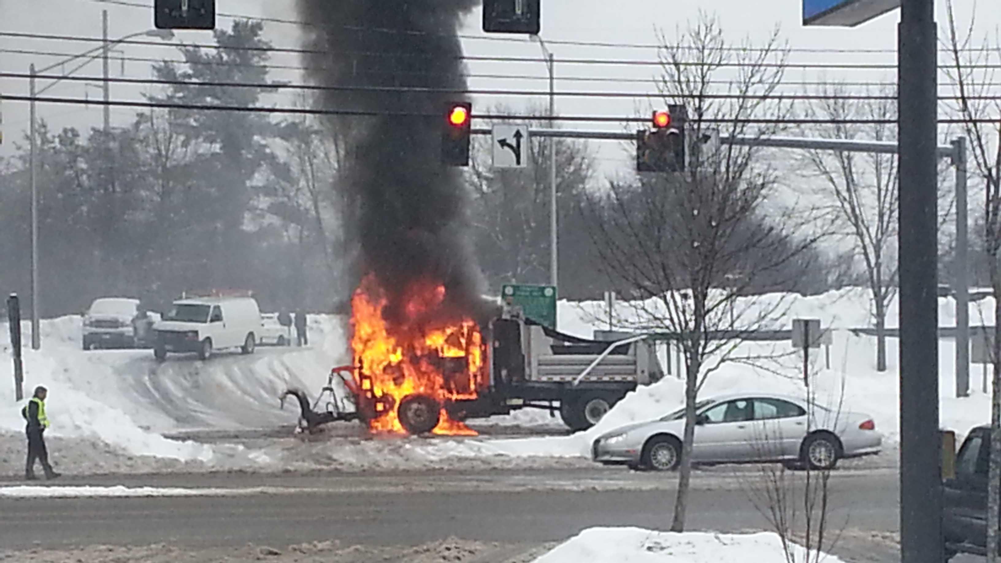 Biddeford truck fire