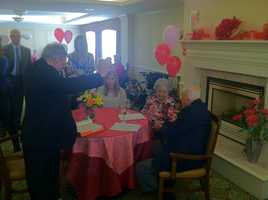 A Portland couple celebrated their 70th anniversary on Valentine's Day.