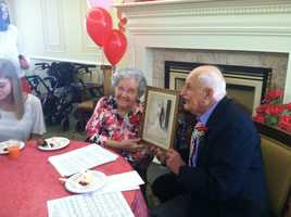Addie and Jack Burke were married on Feb. 14, 1943