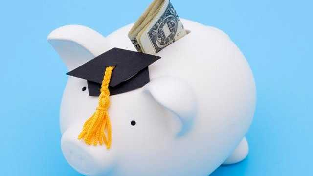 Piggy bank, graduation, college savings
