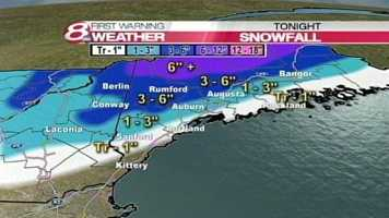 A storm bringing a mix of rain and snow will move into Maine on Tuesday. Click for an hour-by-hour timeline of the storm.Plus, click here to sign up for breaking news and weather alerts. Also, sign up for the latest closings and delays.