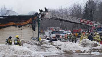 Fire destroyed the Mallard Mart on Route 118 in Waterford on Thursday. The state fire marshal's office is investigating.