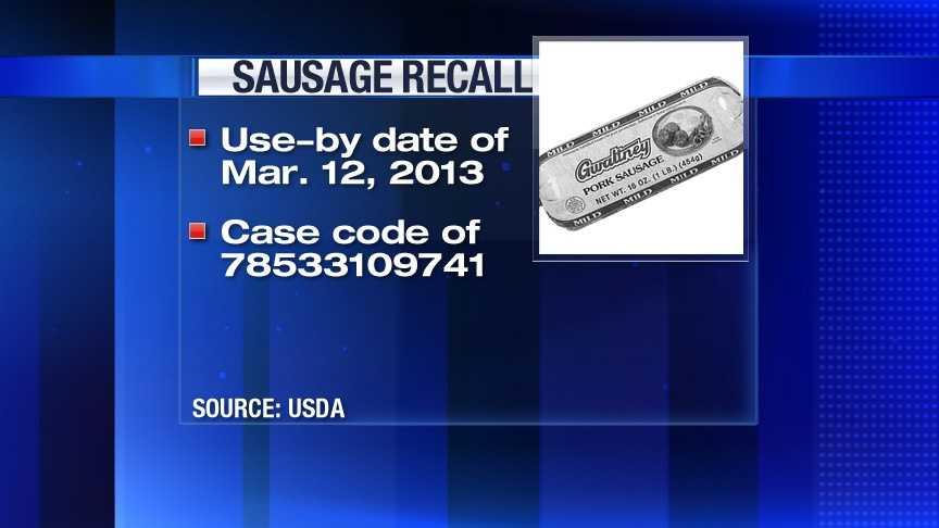 Sausage Recall Label