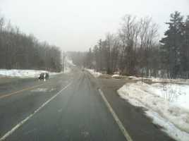 Visibility worsening on Route 26 in New Gloucester Wednesday afternoon