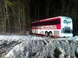 The University of Maine women's basketball team was involved in a scary bus crash in Massachusetts. No one on the team was seriously hurt.
